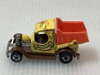 "Vintage Hot Wheels Blackwall ""A"" Truck 'N Dump Truck Yellow 1977 Mattel"