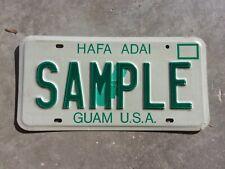 Guam U.S.A. SAMPLE license plate  #   SAMPLE