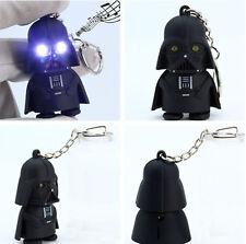 Black Film Star Wars LED Light Darth Vader Up With Sound Keyring Keychain HE