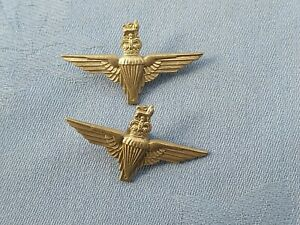 The Parachute Regiment collar badges.
