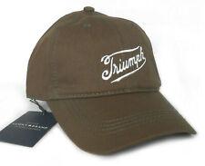 NWT $39.50 LUCKY BRAND BASEBALL HAT CAP, TRIUMPH MOTORCYCLE, DARK BROWN