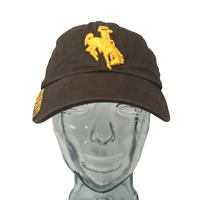 Russell Wyoming Cowboys Baseball Cap NCAA Cotton Brown Gold OSFM Strap Back Hat