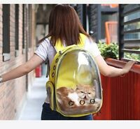 Astronaut Pet Cat Dog Puppy Carrier Backpack Travel Bag Space Capsule Breathable