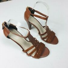 Cole Haan Grand.OS Tan Strappy Leather Sandals Sz 7.5