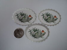 PK 6 ANITA'S XMAS ROBIN BASKET  EMBELLISHMENT TOPPERS FOR CARDS OR CRAFTS