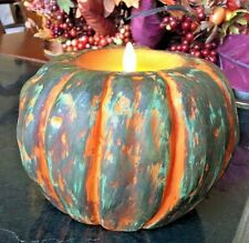 Luminara + Martha Stewart Wax Pumpkin Flameless Candle No Remote