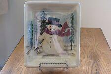 Lustreware Snowman Rectangle Candy Dish/Trinket Tray by Royal Seasons