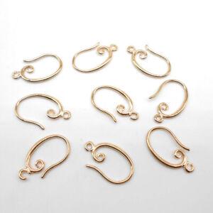10-100Pcs New Rose Gold Making Hook Earring Earwire DIY Jewelry Finding