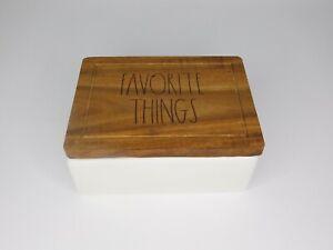 Rae Dunn Artisan Collection by Magenta Trinket Box 210 Favorite Things Wood Lid