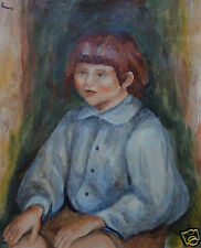 Rare & Unique original oil, painting, signed Pierre Auguste Renoir, w COA, docs.