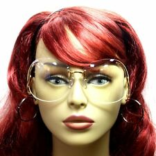 c4790179c82 Upside Down Style Womens Retro Big Butterfly Sunglasses Frame Gold Clear  Lens