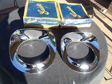 1955-1956-1957 GMC / Chevy NOS Chrome Headlight Bezels in Original Guide Boxes