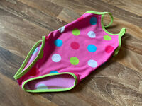 NEXT ~ BABY GIRLS PINK & MULTI SPOT PRINT SWIMSUIT ~ AGE 9 - 12 MONTHS