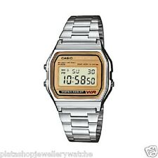 Casio Watch Retro A158WEA-9EF Illuminator Auto Calendar Stopwatch Men Boys Gift