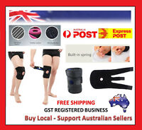 4 Spring Hinged Full Knee Support Brace Knee Protection Strap Cycling Running