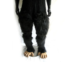 Chimp Hairy Pants Chimpanzee Ape Monkey Legs & Feet Adult Halloween Costume