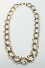 Vintage Mid Century Gold Filled Oval Detailed Link Ladies Necklace