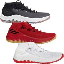adidas Performance Mens Dame 4 Lace Up Mid Rise Basketball Sneakers Shoes