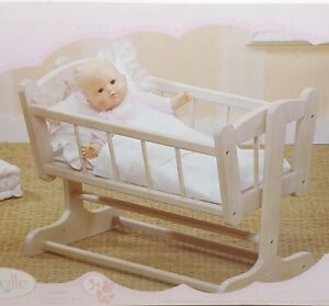 "Corolle Bebe Do 24"" Wooden Nursery Cradle NRFB"