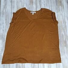 French Laundry Woman Knit Top Size 2X Gold Tone Short Sleeve