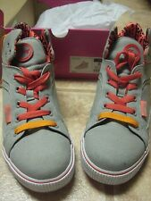 Pastry Womens Sire Classic Grey Casual Trainers HI TOP SNEAKERS 8.5 8 1/2