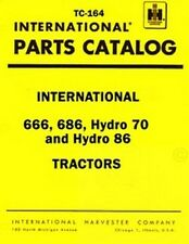 International 666 686 Hydro 70 Hydro 86 Parts Manual IH