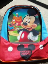 """Childs Mickey Mouse 16""""  Backpack  Disney's Mickey Mouse Clubhouse Multi-color"""