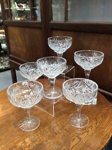 Set Of 6 Edinburgh Crystal Sundae Dishes Design EDI45