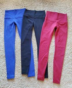 Lululemon Wunder Under Leggings Pants  Lot of 3!  Red, Blue & Black  Sz 6 EUC!!