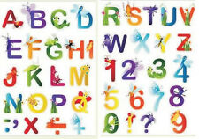 Alphabet Wall Sticker 44pc for glass tile metal smooth surfaces removable kids