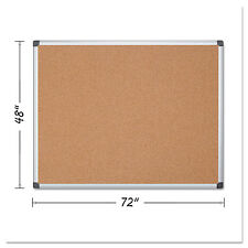 MasterVision Value Cork Bulletin Board with Aluminum Frame 48 x 72 Natural