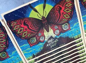 Jeff Soto Dave Matthews Band Poster Charlotte NC 2021 xx/75 AE GITD