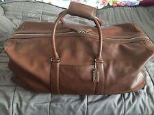 Coach British Tan Leather Large Duffle Travel Bag, Style 5409