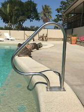 Swimming Pool Hand Rail Grab Step HRA02B Stainless steel Tri standard Bolt Down