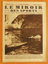 Le Miroir des Sports 501 du 27/8/1929-Costoli gagnant traversée Paris à la nage