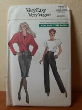 Vogue 7571 sewing pattern Misses' jacket, skirt, pants, and top 6, 8, 10