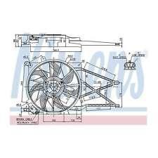 Fits Vauxhall Zafira MK1 1.8 CNG Genuine Nissens Engine Cooling Radiator Fan