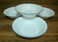 """SET OF 4 - CORNING CORELLE - PINK TRIO SWIRL -  7 1/4"""" SOUP CEREAL SALAD BOWLS"""