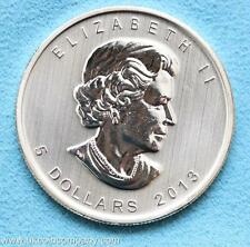 2013 Canada Maple Leaf 1oz Fine Silver Bu $5 Five Dollar Coin