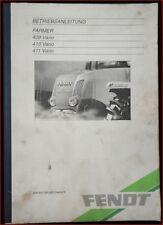 Trattori Fendt Farmer 409, 410, 411 vario manuale di istruzioni