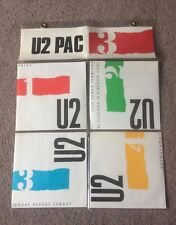 "U2 PAC 3 4 X 7"" SINGLES VINYL CBS IRELAND RARE GOOD CONDITION"