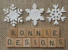 Feutre blanc x18 mixte flocons de neige die cuts appliques christmas bunting advent trims