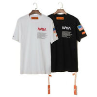 NASA Heron Preston T-shirt Short Sleeve Black White Fashion Tops Summer TEE New