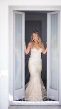 Inbal Dror  Mermaid Embeded Lace Wedding Dress Gown