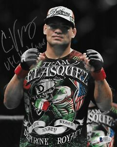 Cain Velasquez Signed 8x10 Photo BAS Beckett COA UFC Metallic Picture Autograph
