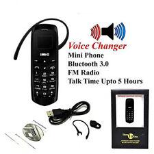 Smallest J8 Bluetooth Dialer Mini Mobile Phone Long CZ Voice Changer 0.66 inch