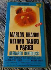 ULTIMO TANGO A PARIGI con MARLON BRANDO  (1972)  VHS ORIGINALE buono stato!