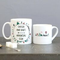PERSONALISED Dad & Me Daughter or Son Adventure Mugs| Fathers Day, Birthday Gift