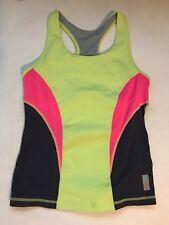 ZELLA Girls Colorblock Racerback Tank Top Yellow Black Pink Large 10/12