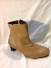 The Shoe Tailor Brown Ankle Leather Boots Size 7